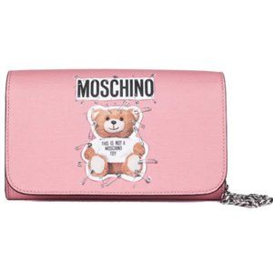 💕MOSCHINO💕 Safety Pin Teddy Bear Pochette Bag